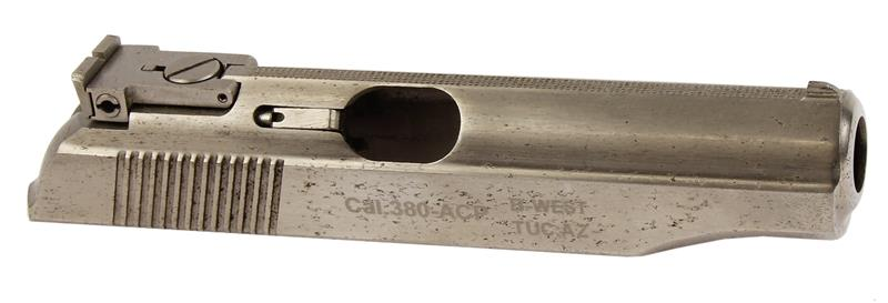 Slide Assembly, .380 ACP, Nickel w/Adjustable Rear Sight, Used Factory