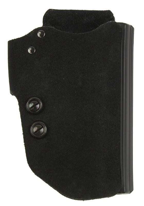 Holster, RH, Belt, Blakguard, Black Suede Leather, New (Galco)