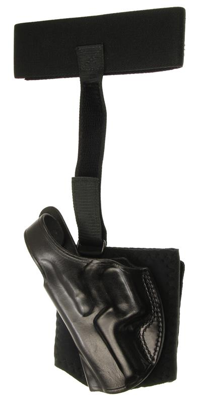 Holster, LH, Ankle Glove, Cushioned Neoprene Cuff, Black Leather, New (Galco)
