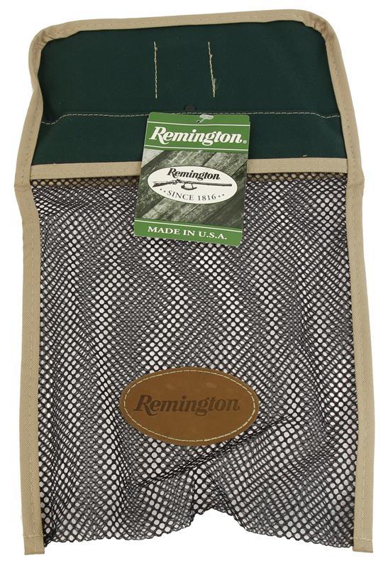 Shell Bag, Green w/Tan Trim & Black Mesh w/Belt Clip, New Remington