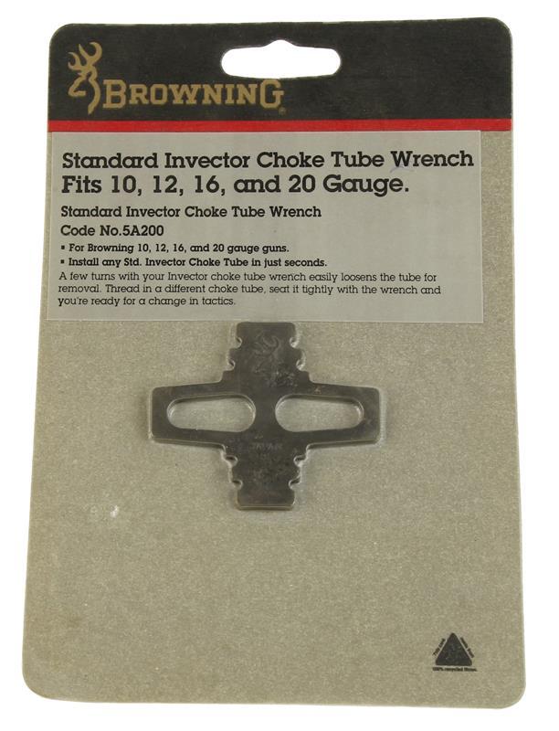 Choke Tube Wrench, 10, 12, 16 & 20  Ga, Standard Invector, Steel, New Factory
