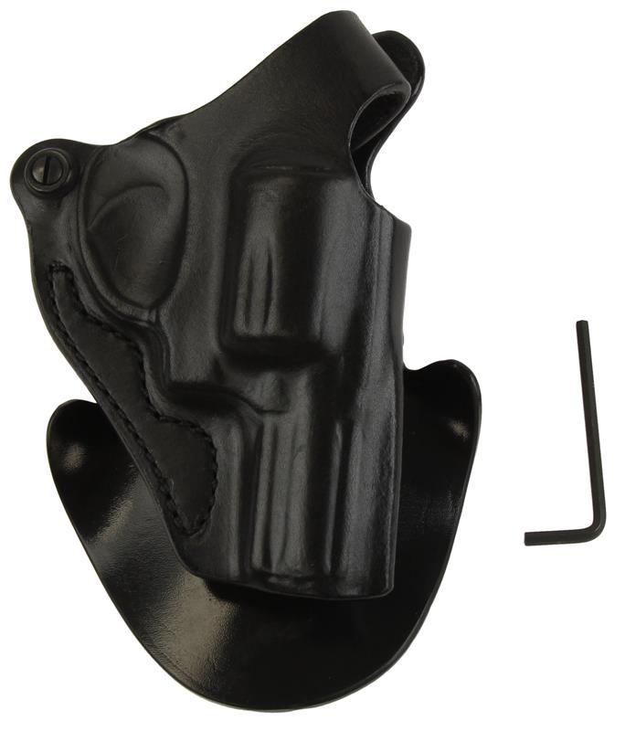 Holster, RH, Black Leather & Polymer, Used (DeSantis)