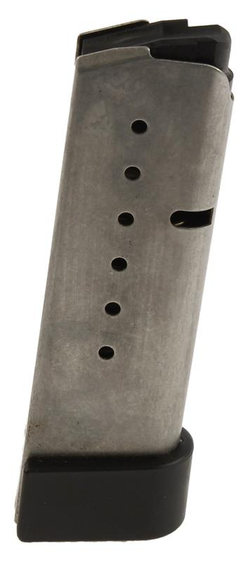 Magazine, .40 S&W, 7 Round, Stainless w/Polymer Sleeve Type Floorplate, Used
