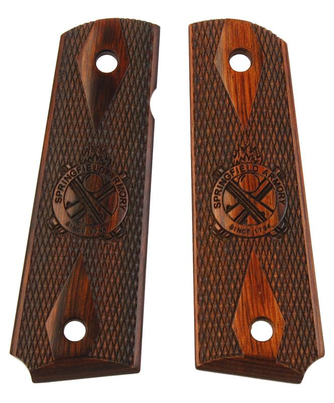 Grips, Checkered Cocobolo w/ Cross Cannons, Used Factory Original (Full-Size)