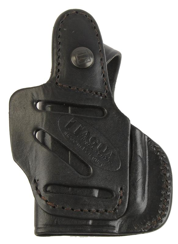 Holster, 4 in 1, RH, Black Leather w/Thumbbreak, New Tagua Mfg.