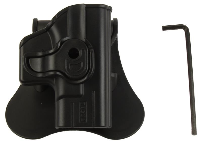 Holster, RH, Paddle, Black Polymer, Used (Push Button Lock Style; w/ Wrench)