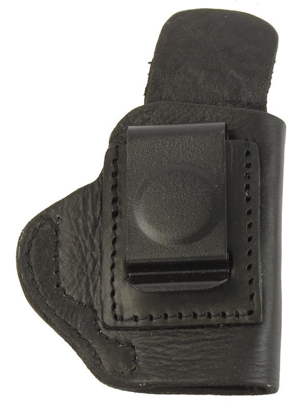 Holster, RH, Inside The Pant, Black Leather, New (Blued Metal Belt Clip; Tagua)