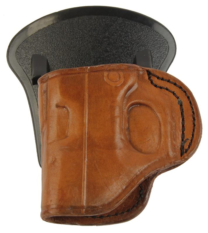 Holster, RH, Paddle, Brown Leather w/ Polymer Paddle, New (Tagua)