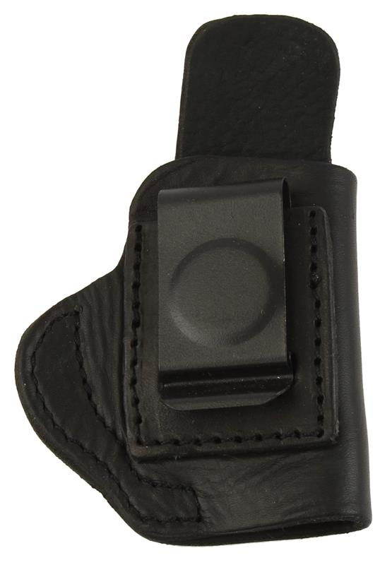 Holster, RH, Inside The Pant, Black Leather, New (Blued Metal Belt Clip; Tagua)