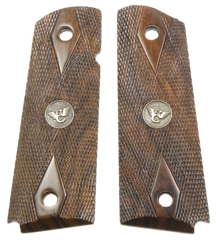 Grips, Full Size, Cocobolo, Checkered w/Wilson Combat Medallions, New Factory