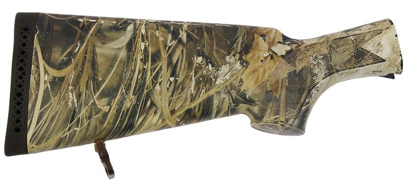 Stock Assembly, 12 Ga., Checkered Neutral Shadow Grass Camo, Used Factory