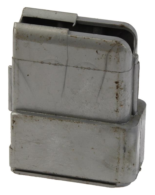 Magazine Box, Stripped, .30 Carbine, 4 Round, Lexan, Silver, Used Factory