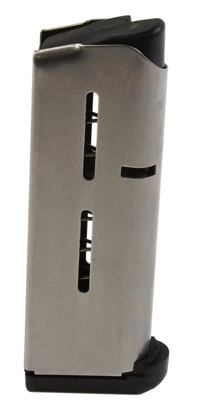 Magazine, .45 ACP, 7 Round, Stainless w/Removable Black Polymer Bumper, Used