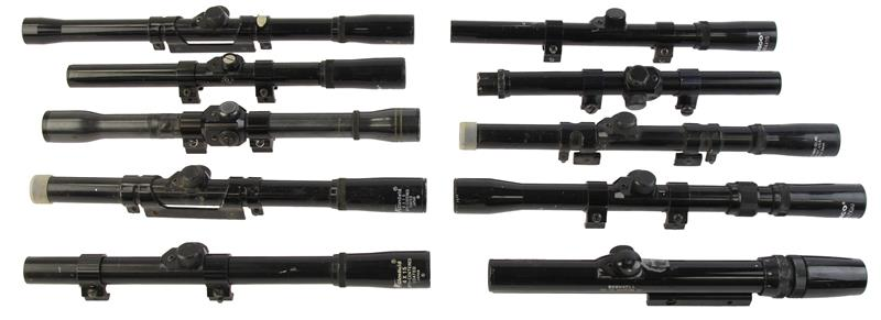 Scope, Lot of 10, .22 Cal/Airgun, Mixed Mfg, Variable & Fixed Power, Sold As Is
