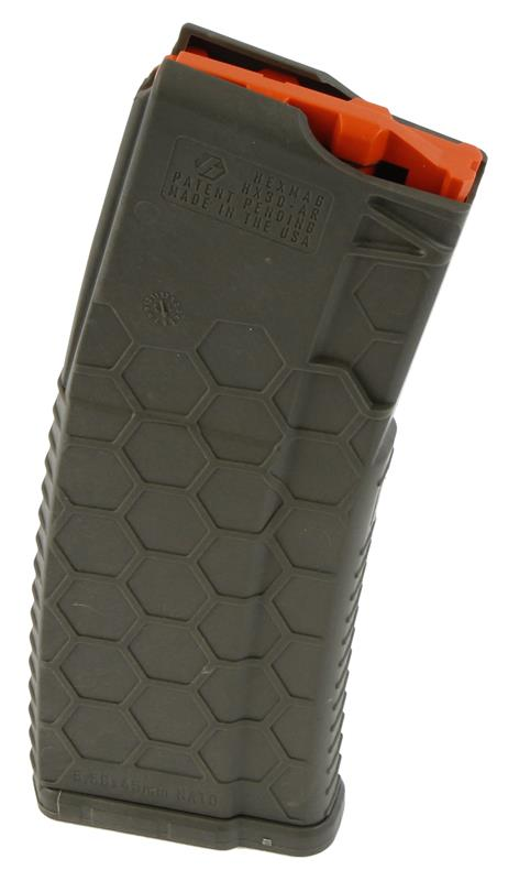 Magazine, .223/5.56mm, 30 Round Blocked to 10 Round, OD Green, Used Hex Mag Mfg