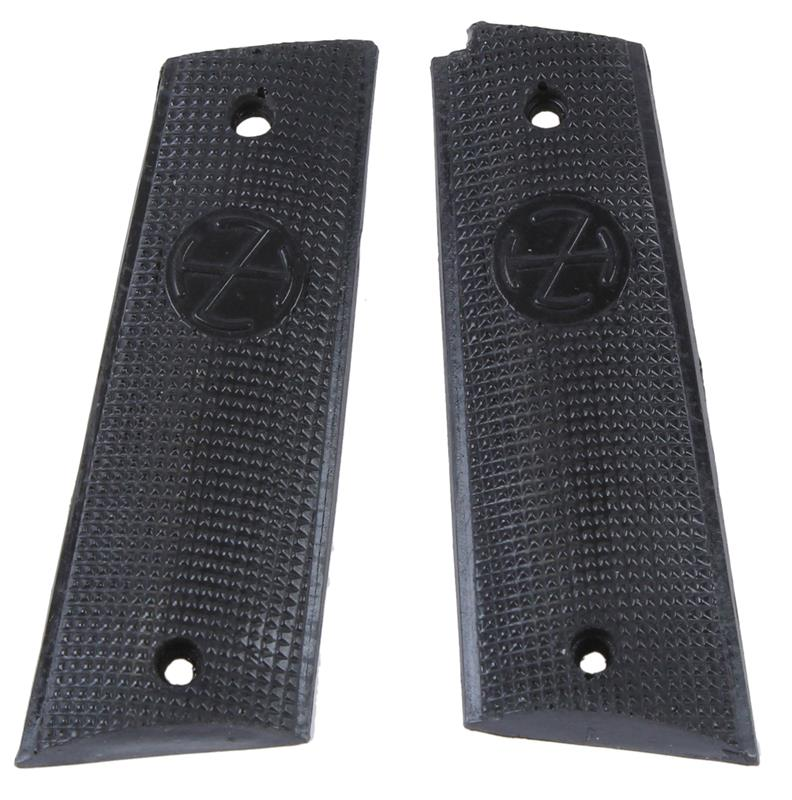 Grips, Stippled Black Plastic, New Reproduction