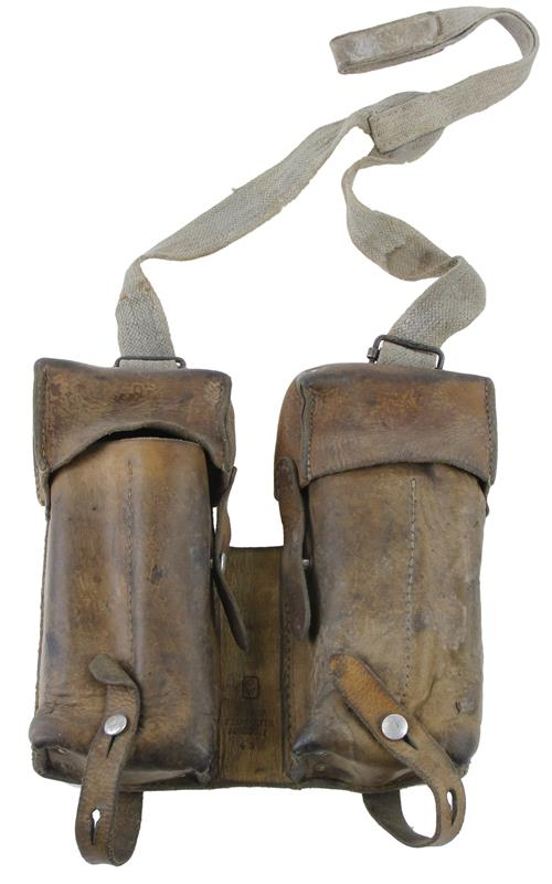 Magazine Pouch, For Steyr MP34 & Swiss MP44 Magazines, Leather, Used