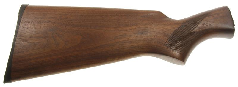 Stock, 12 Ga., Refinished Checkered Walnut w/ Buttplate, Used Factory Original
