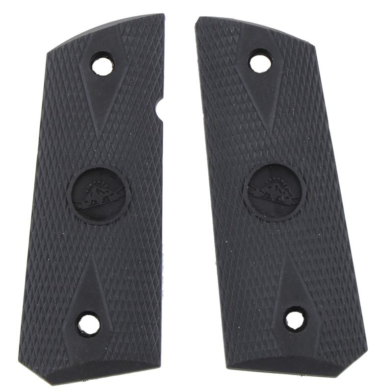 Grips, Black Checkered Rubber, Used Reproduction - Mfg & Styles Vary