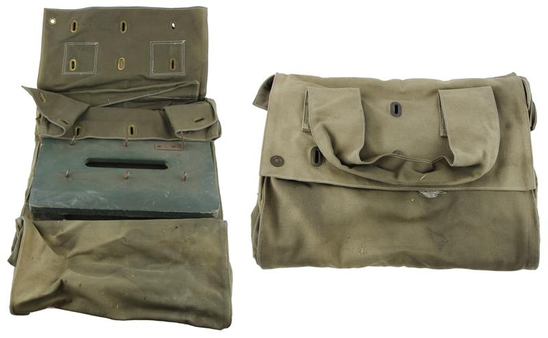 Ballot Bag w/o Locking Rod, OD Green Canvas, Used