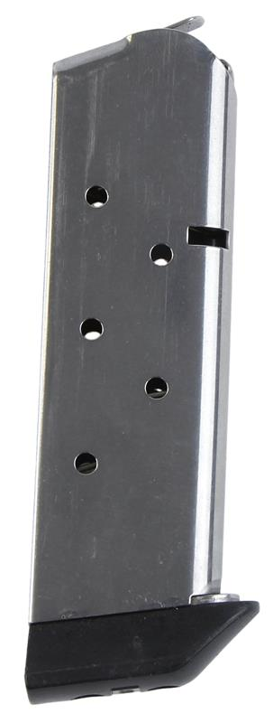Magazine, .45 ACP, 6 Round., Nickel w/J&J Bumper, Used Reproduction