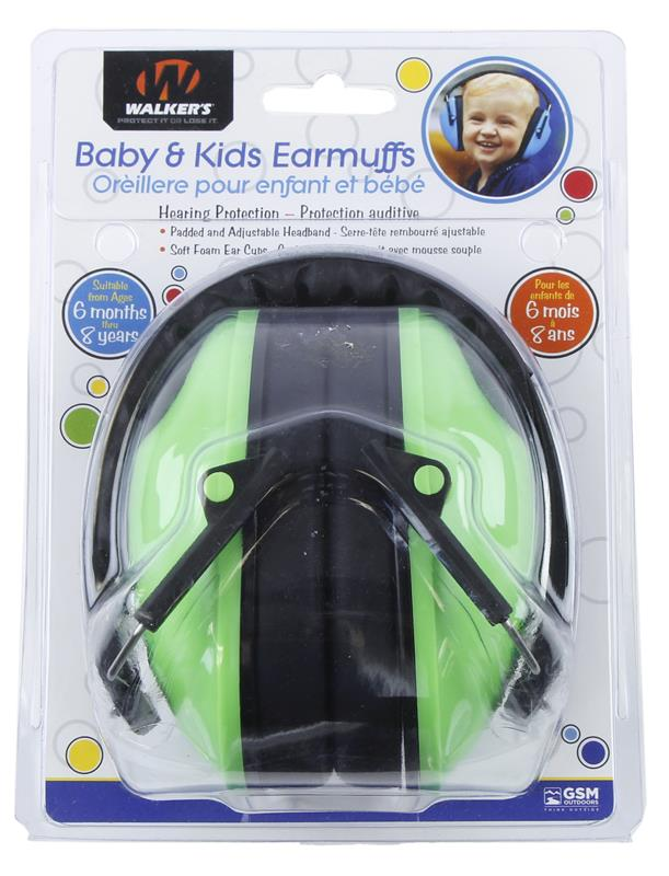 Earmuffs, Baby/Kids, Noise Reduction Rating is 23 Decibels, New Walkers Mfg