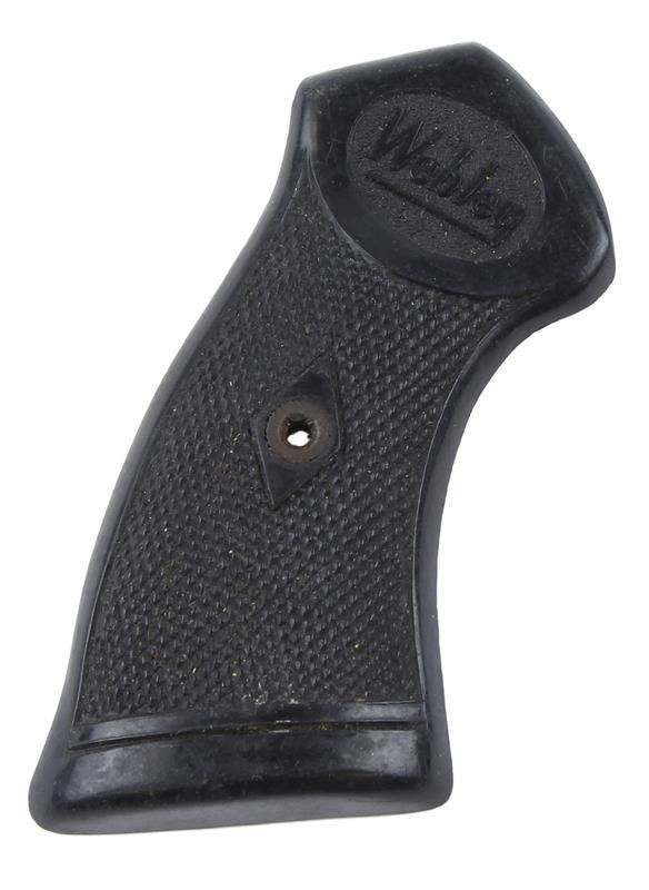 Grip w/Logo, Right, Checkered Black Plastic, Used Factory Original