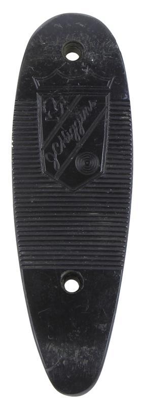 Buttplate, Black Plastic w/ Shield Emblem, Used Factory Original