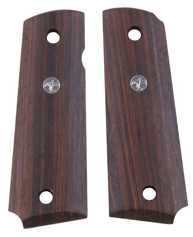 Grips, Exotic Wood w/Silver Wilson Combat Escutcheons, New Factory Original