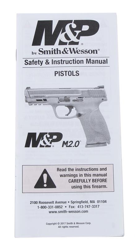 Manual, Safety & Instruction for M&P M2.0, New