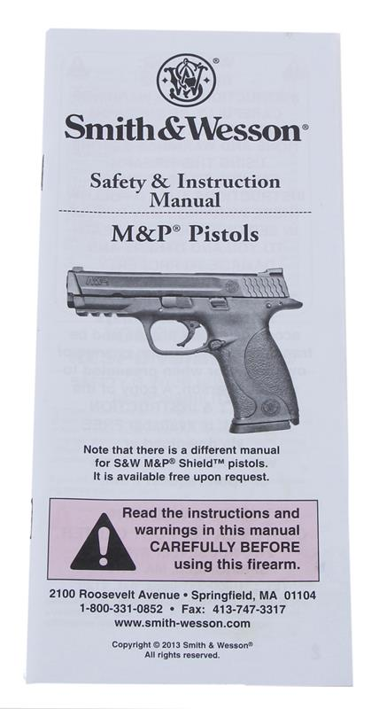 Manual, Safety & Instruction for M&P Pistol, New