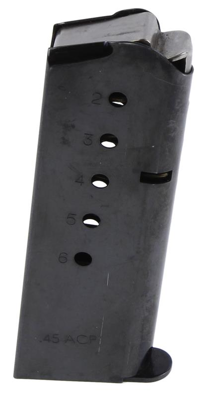 Magazine, .45 ACP, 6 Round, 1911-A1 CS Compact, Blued, Used Act Mag