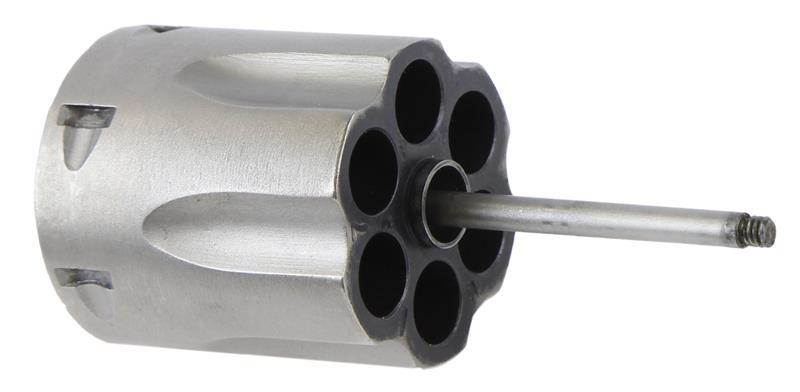 Cylinder, .38 Spec, 6 Shot, Nickel w/ Ejector & Rod, Used Factory Original