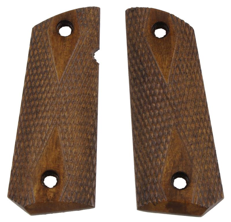 Grips, Diamond Checkered Walnut, Used Factory Original