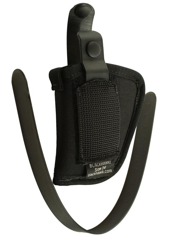 Holster, Ambidextrous, Black Nylon (Fits 2-1/4