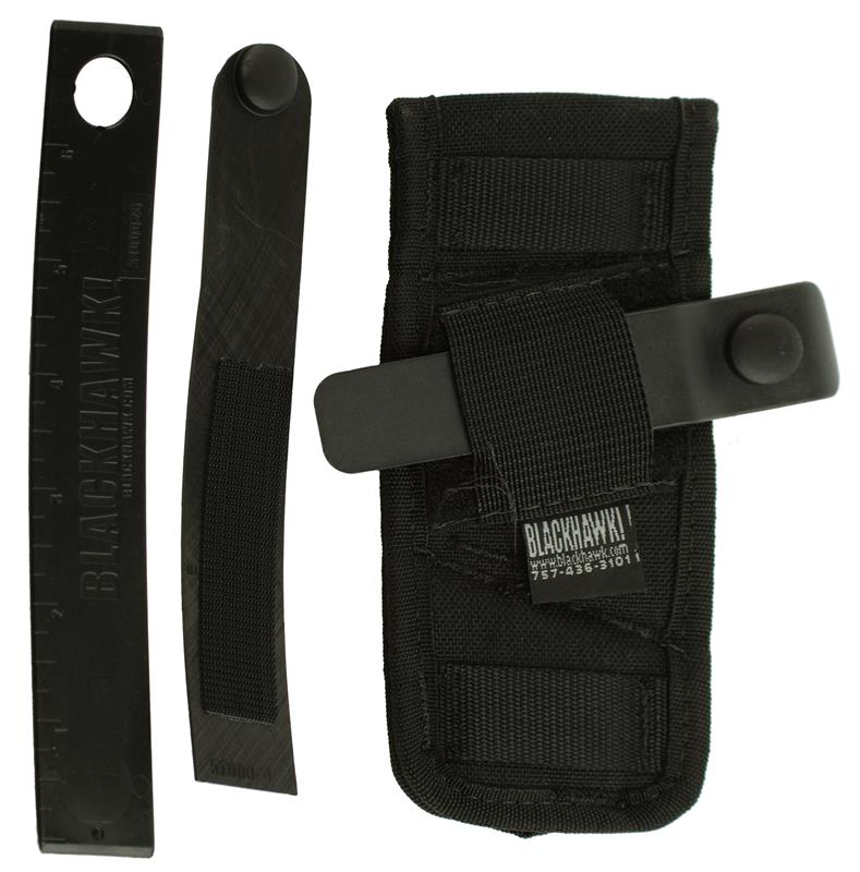Holster, Ambidextrous, Compact, Black Nylon (Belt Slide; Blackhawk Mfg)