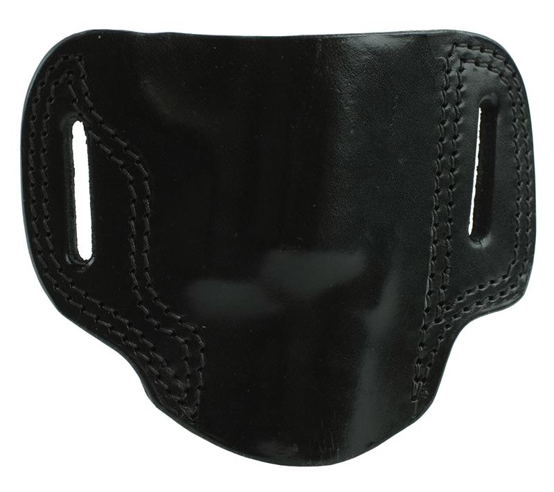 Holster, RH, Black Leather, For Up to 2-1/2