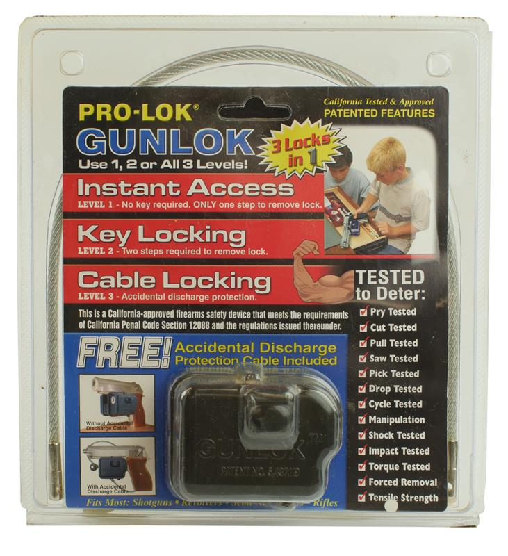 Gun Lock, Cable, 3 Levels of Security, New Pro-Lock