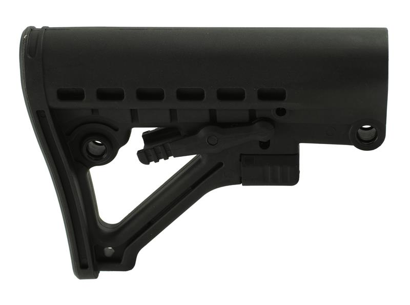Stock, Collapsible, Six Position, Black Polymer, Tacfire Mfg.