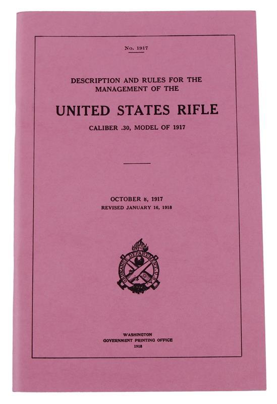 Enfield 1917 .30 Caliber Operator's Manual