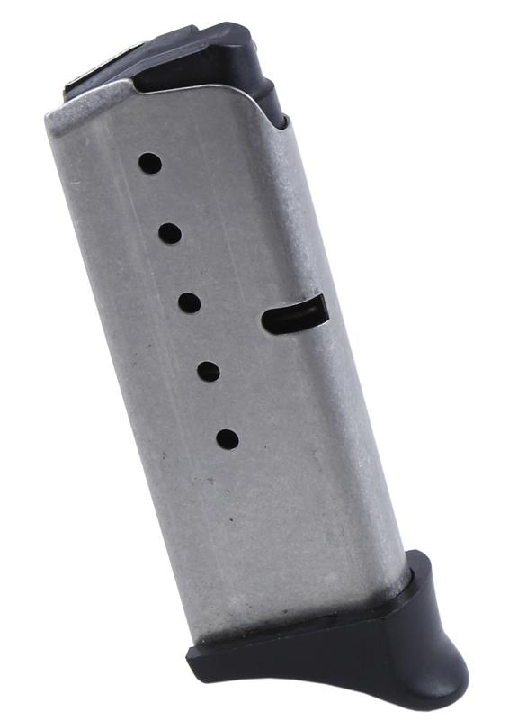 Magazine, 9mm, 6 Round, Stainless w/Finger Extension, Used (Factory)