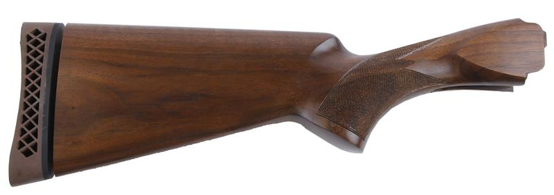 Stock, 12 Ga, Trap, Grade 1, Short Guard, Oiled Checkered Walnut, New Factory