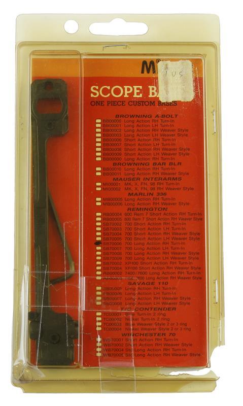 Scope Base, RH, LA, 1 Pc, Matte Black, New Millett Mfg