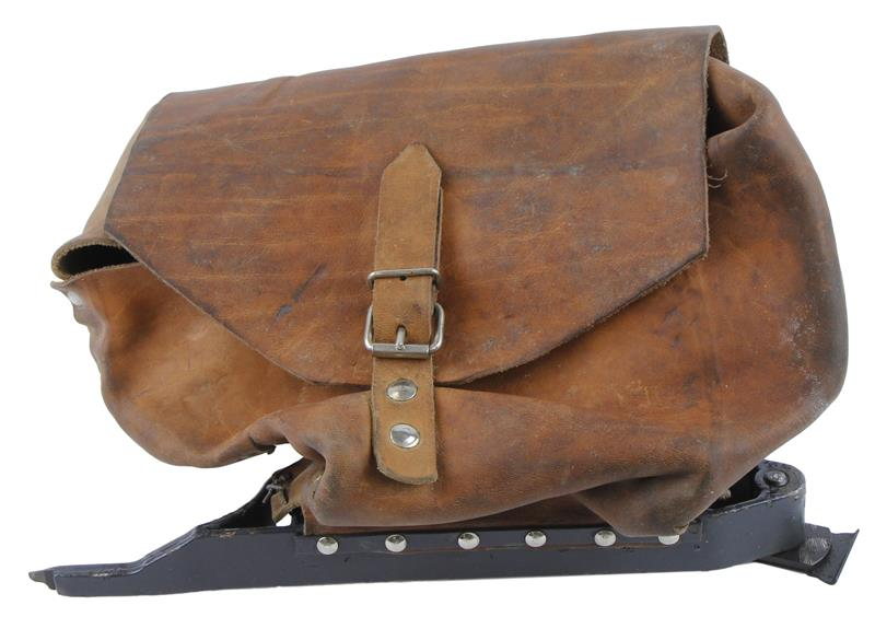 Brass Catcher Bag, Leather w/Steel Frame Attachment