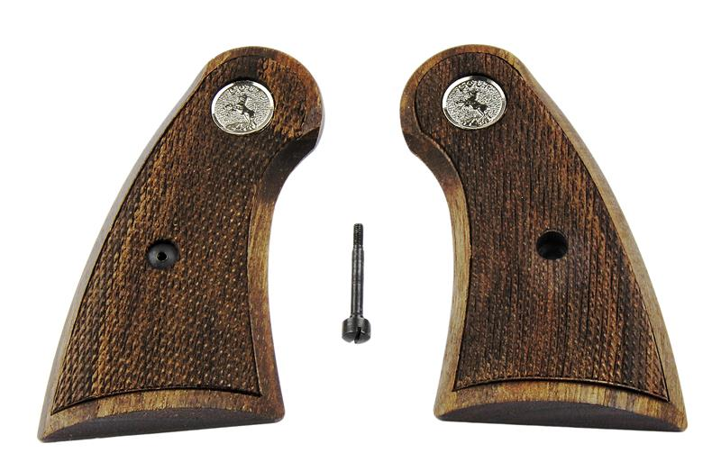 Grips, Service, Laser Cut Checkering, Walnut, New Reproduction