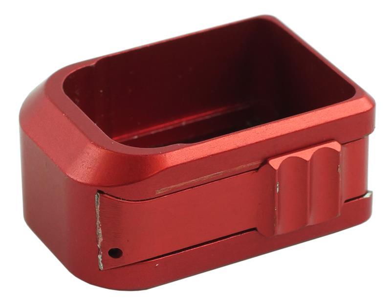 Magazine Base Pad, Red Anodized Aluminum, Dawson + 1 (Dawson Precision)