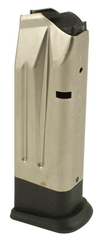 Magazine, .40 S&W, 10 Rd, Nickel, Used (w/ Extended Polymer Base; Factory)