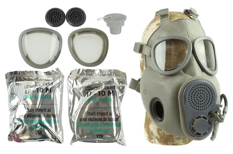 Gas Mask & Filter Set, M10M, Czech Military Surplus