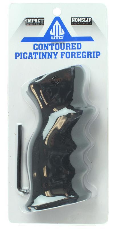 Foregrip, Contoured, For Picatinny Rail, Black, New UTG Mfg.