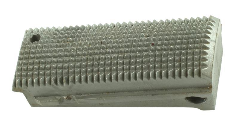 Mainspring Housing, Flat, Checkered, Gray Composite, Used Factory Original